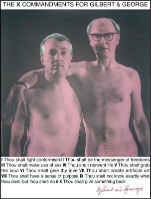 Screenprint Gilbert & George - Autoportrait