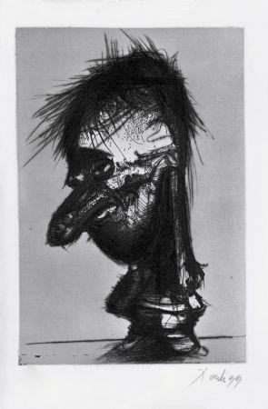 Etching And Aquatint Dado - Autoportrait