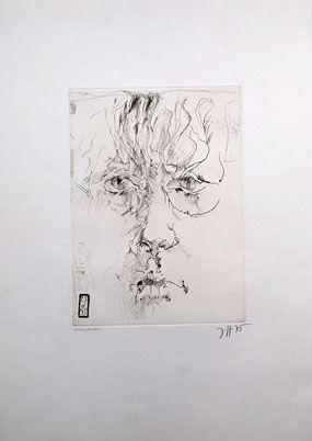 Engraving Janssen - Autoportrait