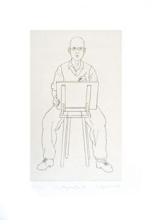 Etching Klapheck - Autoportrait