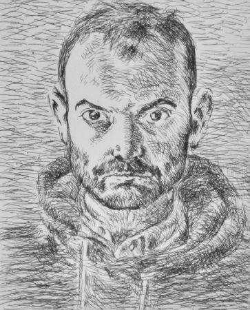 Engraving Cossé - Autoportrait (1er état)