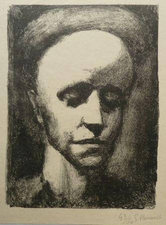 Lithograph Rouault - Autoportrait II
