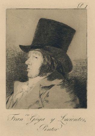 Etching Goya - Autorretrato