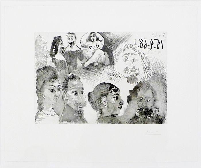 Engraving Picasso - Autour d'El Greco et de Rembrandt: Portraits