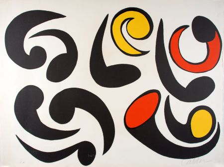 Lithograph Calder - Autres têtards