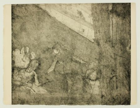 Etching Degas - Aux  Ambassadeurs