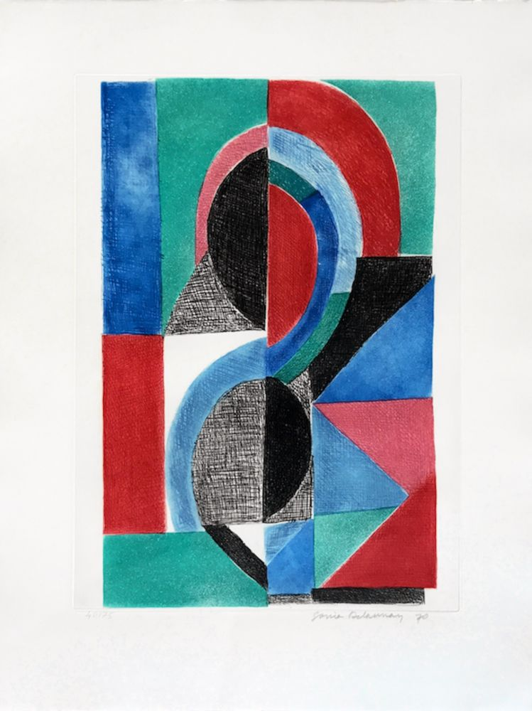 Etching And Aquatint Delaunay - Avec Moi Meme - Plate ?