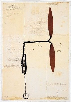 Multiple Riera I Aragó - Avió hèlix vermella sobre manuscrits