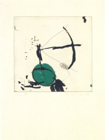 Etching Riera I Aragó - Avió petit roda verda