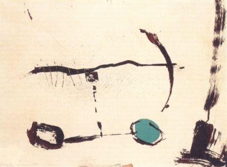 Etching Riera I Aragó - Avió roda devant blava