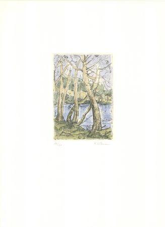 Etching Wittmann - Bäume