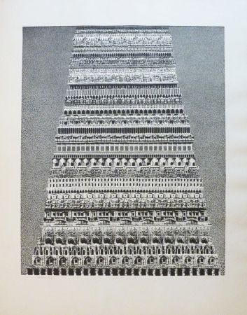 Etching And Aquatint Opalka -  Babel