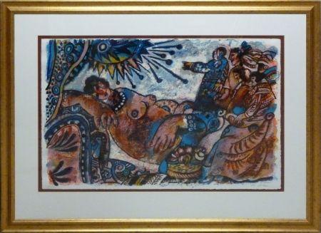 Lithograph Tobiasse - Babylon despues de premiere aube