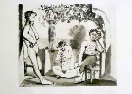 Etching And Aquatint Picasso - Bacchanale