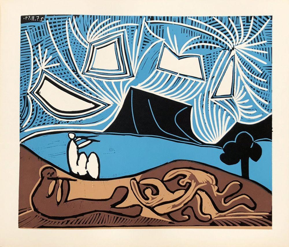 Linocut Picasso (After) - Bacchanale 25-11-59