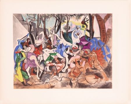 Lithograph Picasso - Bacchanale (After)