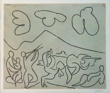 Linocut Picasso - BACCHANALE (BLOCH 927)