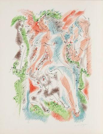 Lithograph Masson - Bacchanale from Je Reve Portfolio