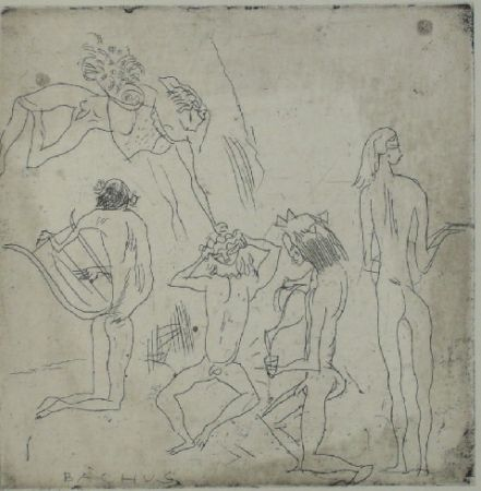 Drypoint Pascin - Bacchus