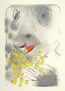 Lithograph Rebeyrolle - Bacchus