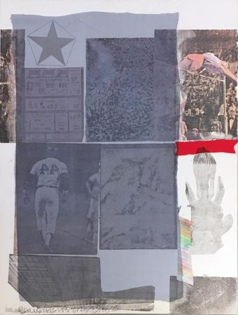 Lithograph Rauschenberg - Back Out