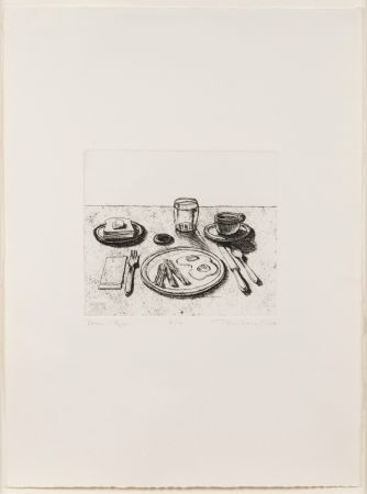 Etching Thiebaud - Bacon and Eggs, from Delights