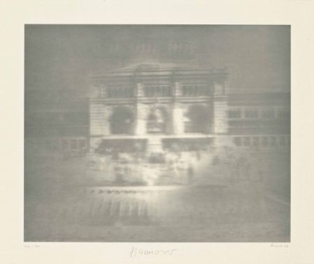 Lithograph Richter - Bahnhof (Hannover)