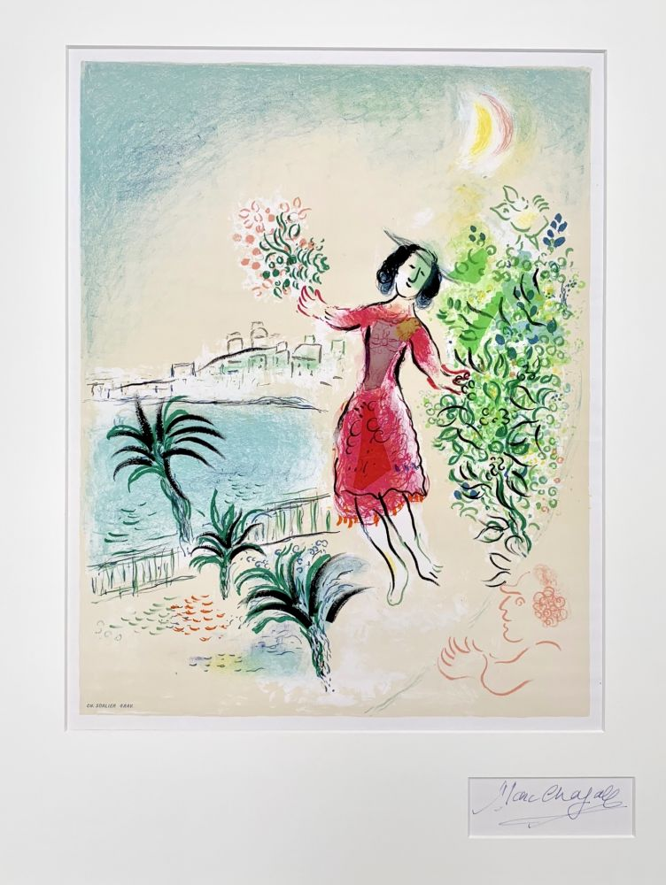 Lithograph Chagall - Baie des Anges
