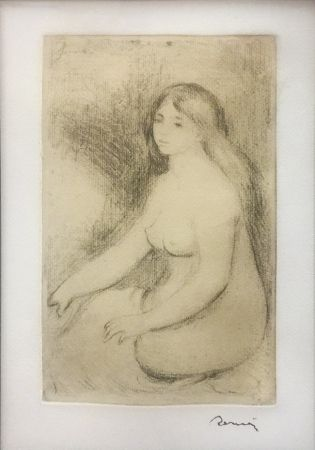 Etching Renoir - BAIGNEUSE ASSISE (D., S. 11)