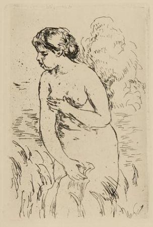 Etching Renoir - Baigneuse debout à mi-jambes