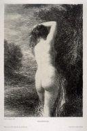 Lithograph Fantin-Latour - Baigneuse debout (3º planche)