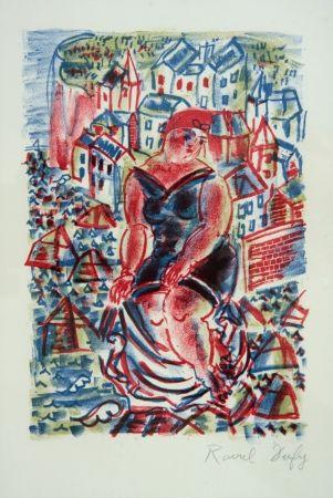 Lithograph Dufy - Baigneuse Devant le Port de St Adresse