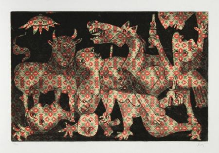 Etching And Aquatint Baj - Baj chez Picasso