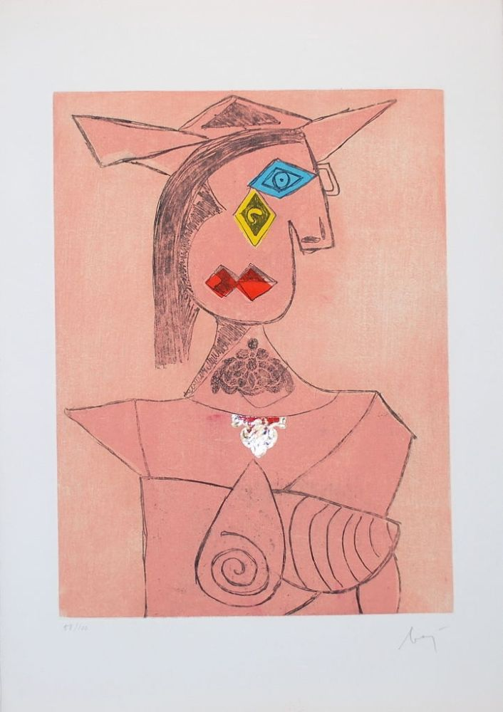 Etching Baj - Baj chez Picasso 8