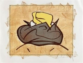 Lithograph Oldenburg - Baked potatoe with butter