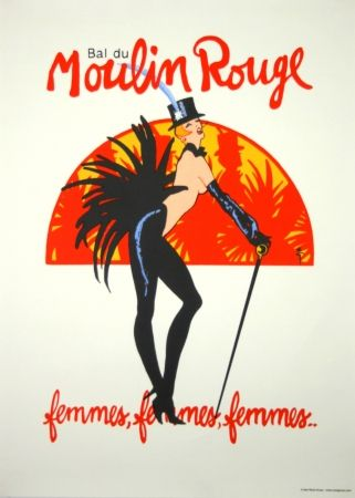 Screenprint Gruau - Bal du Moulin Rouge