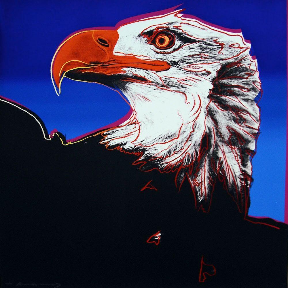 Screenprint Warhol - Bald Eagle (FS II.296)