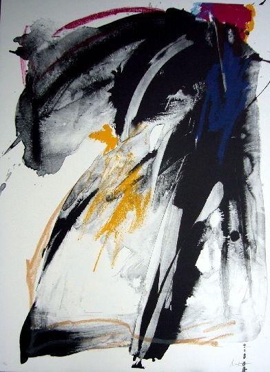 Lithograph Miotte - Ballade