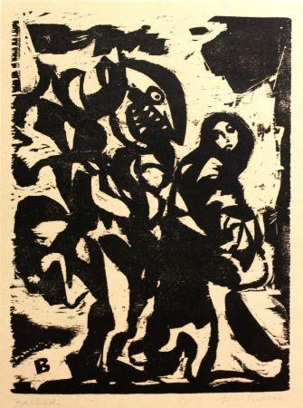 Woodcut Berke - Ballade