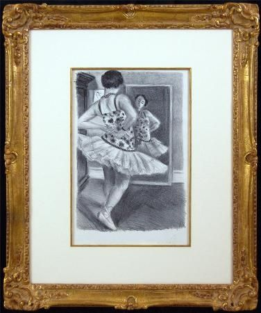 Lithograph Matisse - Ballerina Standing In Front of a Mirror