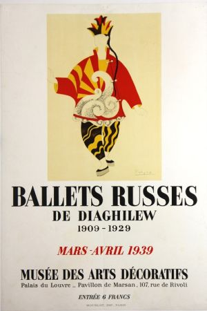Lithograph Picasso - Ballets Russes de Diaghilew  Musee des Arts Decoratifs