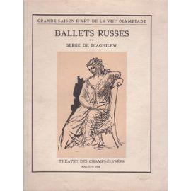 Illustrated Book Picasso -  BALLETS RUSSES. Grande saison d'art de la VIIIe Olympiade.