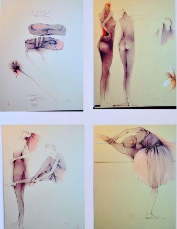 Lithograph Bruni - Ballett mit Cynthia