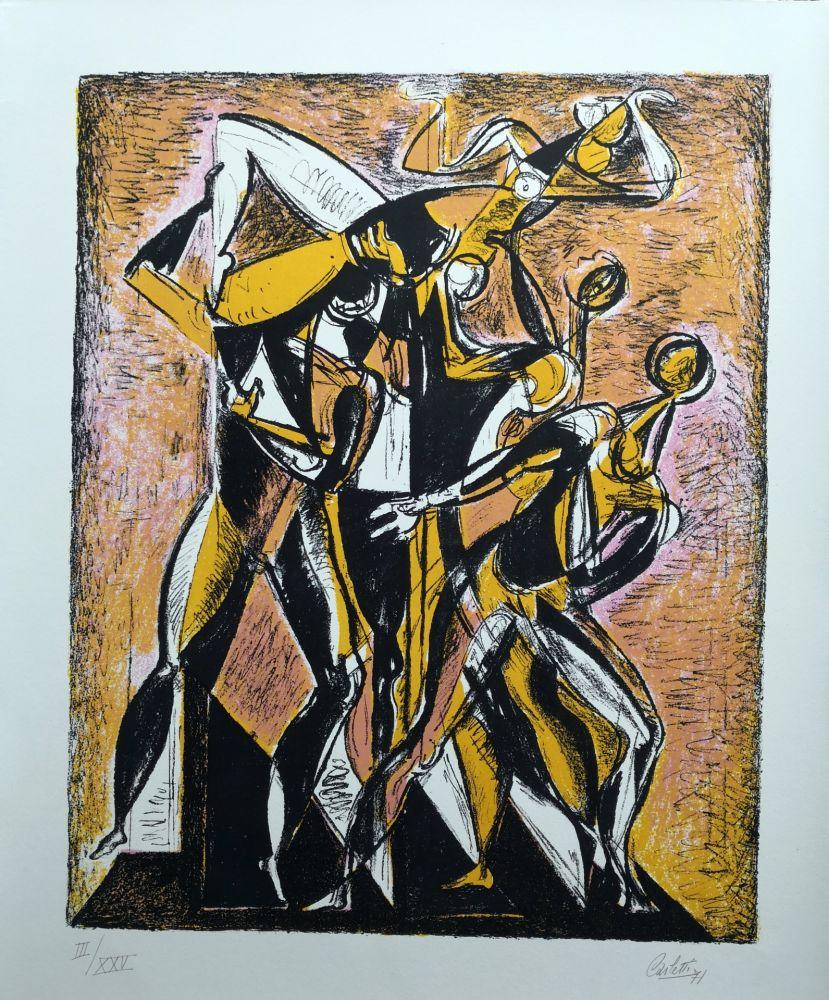 Lithograph Carletti - Balletti 1
