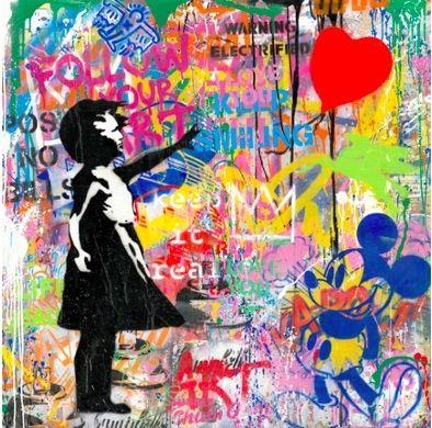 Screenprint Mr Brainwash -  Balloon Girl, 2020