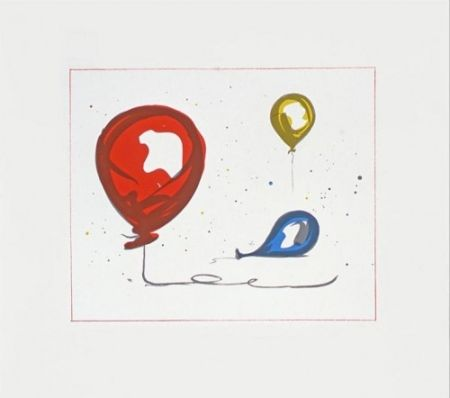 Lithograph Oldenburg - Balloons