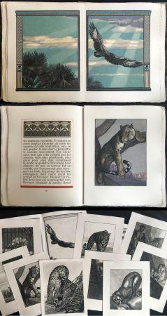 Illustrated Book Jouve - Balzac : UNE PASSION DANS LE DÉSERT. Illustrations de Paul Jouve (1949).
