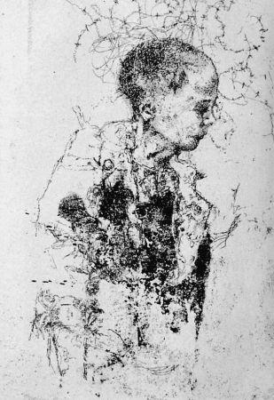 Engraving Vespignani - Bambino di Portonaccio