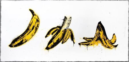 Screenprint Mr. Brainwash - Banana Split (White)