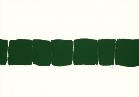 Lithograph Capdeville - Bande verte